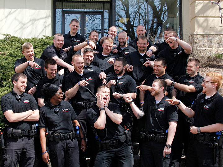 Law Enforcement Academy Students Posing Outside