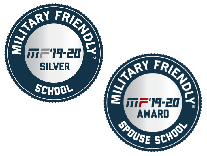 Military Friendly School and Military Friendly Spouse School Logos for 2019-2020