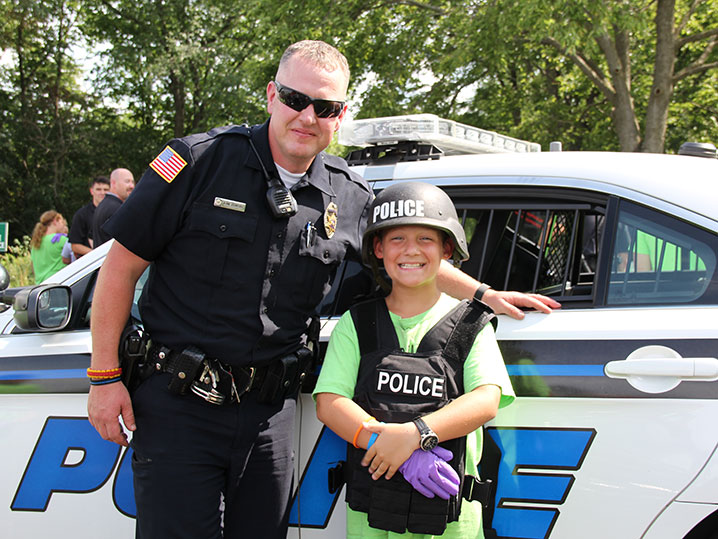 Police Officer with Kid